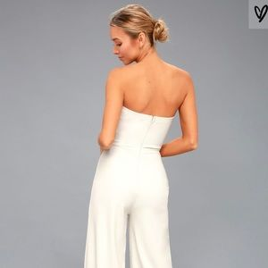 9d5a6ee070e Lulu s Dresses - Edith White Strapless Jumpsuit